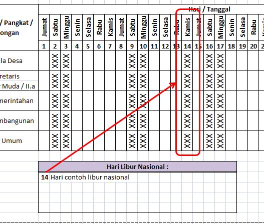Membuat Daftar Hadir Otomatis Dengan Microsoft Excel